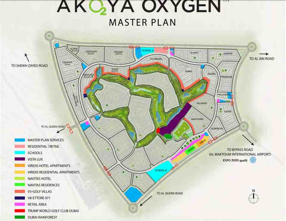 NAVITAS AKOYA OXYGEN Residential Studio and Hotel apartments STD 1 BR Master Plan