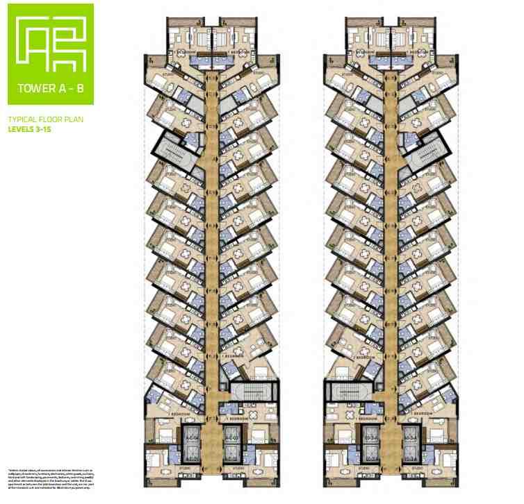 NAVITAS AKOYA OXYGEN Residential Studio and Hotel apartments STD 1 BR floor plan