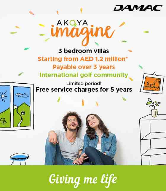 Imagine a 3br villa from 1.2 million & FREE service charges for 5 years