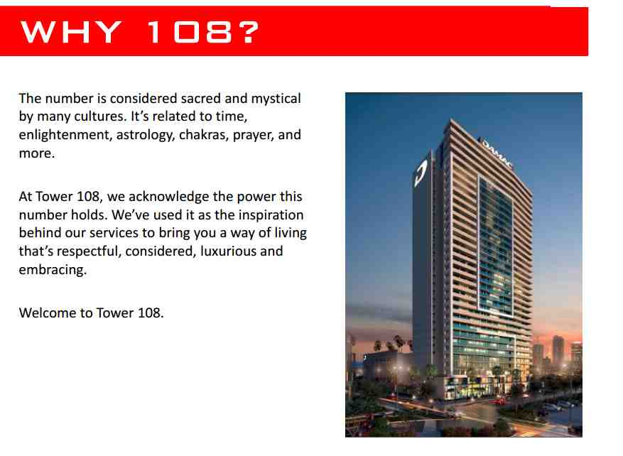 Damac Tower 108 Project