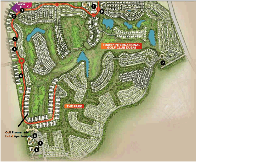Golf Condominiums Akoya By DAMAC SITE plans