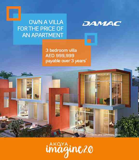 AKOYA IMAGINE. Damac is launching Akoya Imagine 2.0 with 3 bedroom villa at AED 999,000. Booking open
