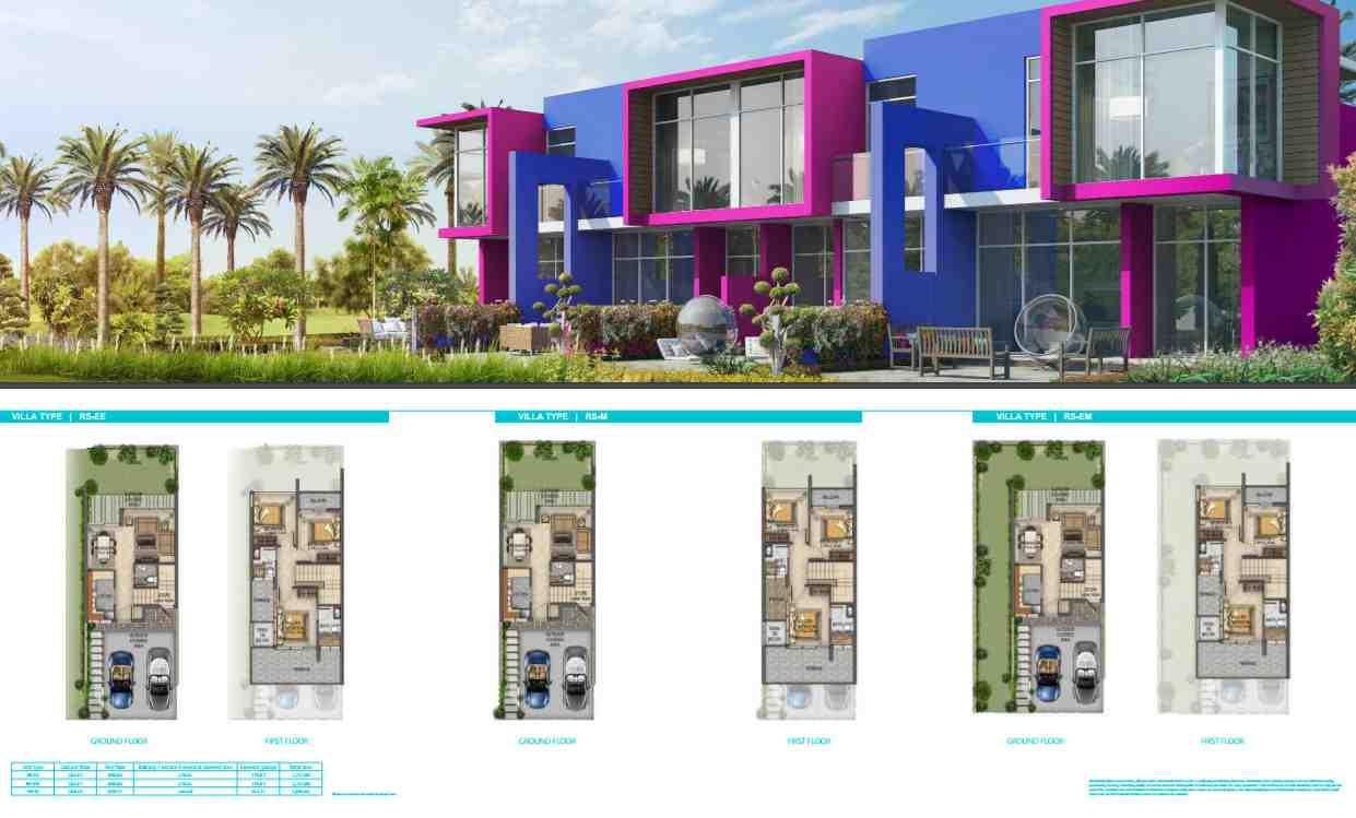 Akoya Manarola villa floor plans