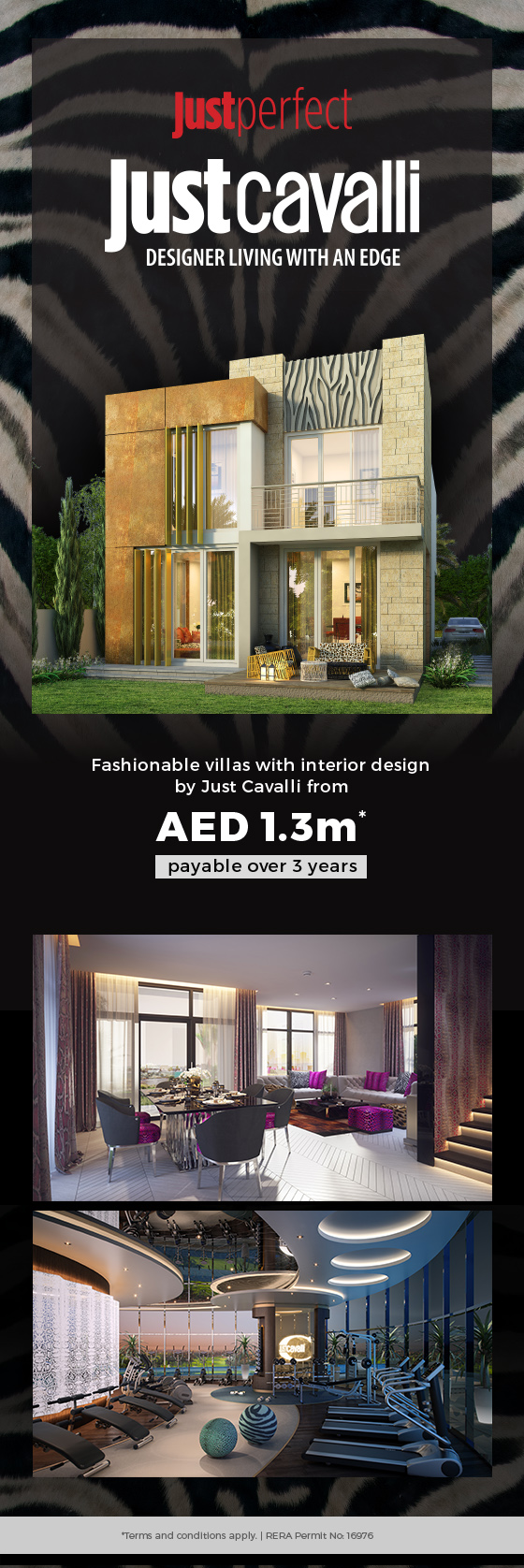 3 bed villas from AED 1.3M* | Just Cavalli @ Akoya Oxygen