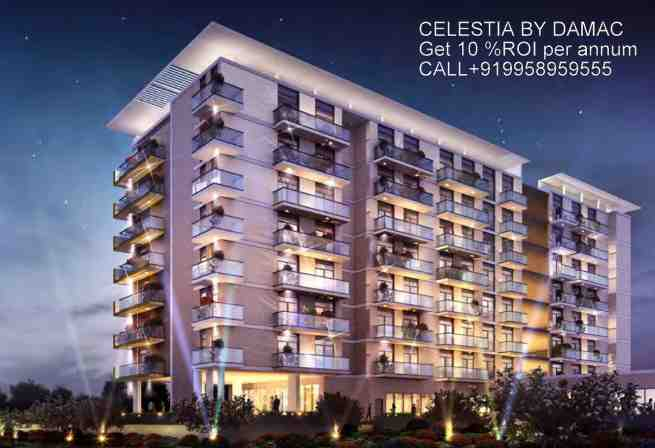 Damac-Maison-Celestia-Exterior-Views Earn ROI @ 10% rental annual returns over 4 years with the Celestia luxury furnished apartments in Dubai South from AED 640,500* Call DAMAC +91-9958959555